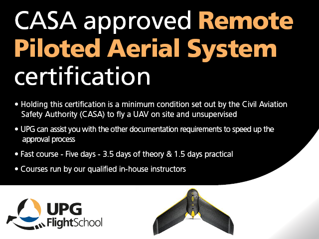 CASA approved Remote Piloted Aerial System certification